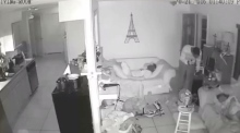 House burgled as occupants sleep on couch