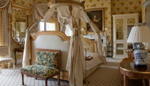 A bedroom at Ballyfin Demesne, voted number one hotel in the world, where staff devote an hour to cleaning  each room
