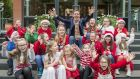 The Late Late Toy Show audition tour hit Dundalk on Wednesday with performers from as far away as Donegal trying out for a spot on the show.  Pictured at the auditions were NC Kids from Dundalk with Ryan Tubridy. Photograph: Ciara Wilkinson