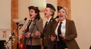 """The Bugle Babes"" perform  at an Irish Times  Women's Podcast live event, Birth of a Nation 1916, in February 2016. Photograph: Nick Bradshaw"
