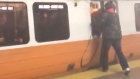 Eyewitness footage captures panic in Boston subway station