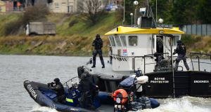 The Garda Emergency Response Unit during a joint training exercise in Louth Photograph: Dara Mac Donaill/The Irish Times