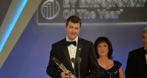 EY Entrepreneur Of The Year 2016, Brendan Mooney of Kainos Group  at the awards. Photograph: Alan Betson/The Irish Times