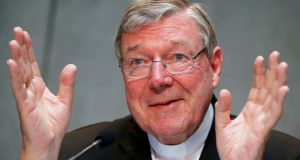Cardinal George Pell: confirmed that he was questioned in Rome last week by Australian police in relation to sex abuse allegations. Photograph: Tony Gentile/Reuters