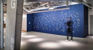 Piece by Anita Groener in Facebook's Dublin office. Photograph: Ros Kavanagh