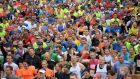 Dublin marathon: Some 19,500 entrants will taking part this year, compared to 16,000 in 2015. Photograph: Dara Mac Dónaill / The Irish Times