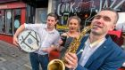 Members of Cork's Groove Collective Cian O'Sullivan, Fiona Nolan and Seb Schneider as the 34th Guinness Cork Jazz Festival gets under way. Photograph: Michael Mac Sweeney/Provision