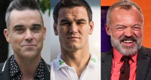 The Late Late men: Robbie Williams, Johnny Sexton and Graham Norton