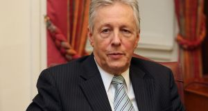 Former Northern Ireland first minister Peter Robinson: was part of a delegation from Kilmona at the meeting of the Carrickfergus Regeneration Partnership. Photograph: Niall Carson/PA Wire