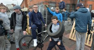 Young people from Sheriff Street in north inner city Dublin. Photograph: Alan Betson/The Irish Times