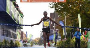 Dereje Debele Tulu won the Dublin marathon by more than two minutes on Sunday. Photograph: Sportsfile