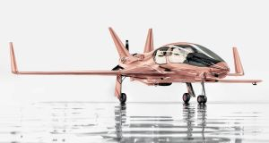 A Cobalt Valkyrie-X private aeroplane in rose gold, costs $1.5 million