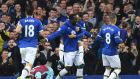 Romelu Lukaku opened the scoring for Everton against West Ham. Photograph: Afp