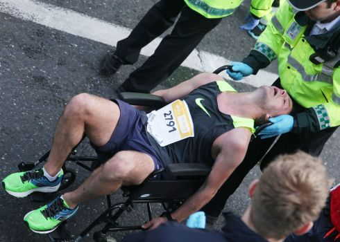 Race is run in the Dublin Marathon. Photograph: Stephen Collins/Collins
