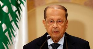 Former general Michel Aoun commanded the country's armed forces during the waning years of Lebanon's 1975-90 civil war. Mohamed Azakir/Reuters