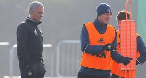 Bastian Schweinsteiger has returned to first team training with Manchester United. Photograph: Getty