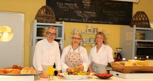 LitFest director Rory O'Connell with Darina Allen and Rachel Allen at the Ballymaloe Cookery School