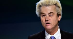 Dutch far-right Freedom Party leader Geert Wilders: the case against him arises from comments he made about Moroccans during a rally in 2014. Photograph: Giuseppe Cacace/AFP via Getty