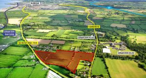 The 21-acre residential site near the Meath-Dublin border at Gormanstown