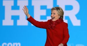 "Hillary Clinton: target of ""the most misogynistic presidential nominee in US history"". Photograph: Matt Rourke/AP"