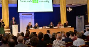 "A gathering of the Citizens' Assembly: ""A rather overwrought process."" Photograph: Dara Mac Dónaill"