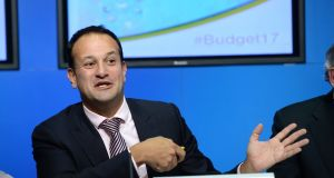 Minister for Social Protection Leo Varadkar  has confirmed that increases in social welfare will be implemented from the second week in March. File photograph: Dara Mac Dónaill/The Irish Times
