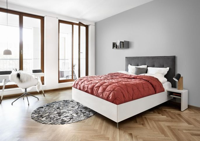 This smart Lugano bed is one of several streamlined designs from Danish  design company Bo Concept. House Proud  Hibernate in style