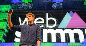 Web Summit co-founder Paddy Cosgrave opening the event  at the RDS in 2015. Photograph: Eric Luke