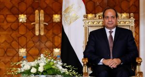 Egypt's president Abdel Fattah al-Sisi said Trump would provide strong leadership if elected president of the US, but was cool toward Clinton, who  criticised his human rights record. Photograph: Amr Abdallah Dalsh/Reuters