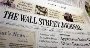The Wall Street Journal announcement came as the New York Times reported print advertising revenue that was 19 per cent lower
