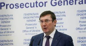 Ukraine's prosecutor general Yuriy Lutsenko warned that those found guilty of large-scale tax evasion could face up to 15 years in jail. Photograph: Valentyn Ogirenko/Reuters