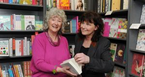 "Launching the novel 'Teethmarks on My Tongue', Prof Jenny Williams (left with author) said it was a special writer who could cross  ""shark-infested waters"" between being a literary critic and a novelist.  Photograph: Aidan Crawley"
