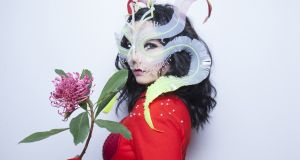 Björk portrait, taken at the the RBMA Montreal this week. Photograph: Santiago Felipe/Red Bull Content Pool
