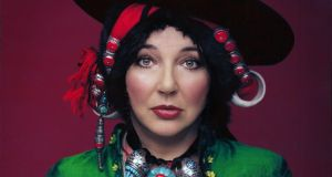 "Kate Bush, whose ""shapeshifter"" image borrowed from glam icons such as David Bowie."