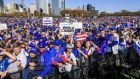 Hundreds of thousands of fans crowd into Grant Park to attend a rally for the World Series Champion Chicago Cubs in Chicago, Illinois. The National League Chicago Cubs defeated the American League Champion Cleveland Indians four games to three in the best of seven game series to claim the title for the first time in 108 years. Photo: EPA