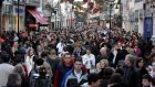 Shoppers on Grafton street, Dublin, in the run-up to Christmas. File photograph: Eric Luke / The Irish Times