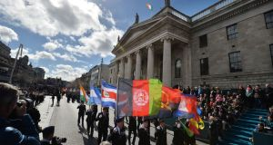 Are we still tied to a single narrative of our history? 1916 commemoration at the GPO. Photograph: Alan Betson / The Irish Times