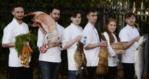 Euro-Toques young chef of the year finalists: Glen Sutcliffe; Killian Crowley; Chris Fullam; Marc McWilliams; Maeve Walsh and Gary Doyle. Photograph: Clodagh Kilcoyne