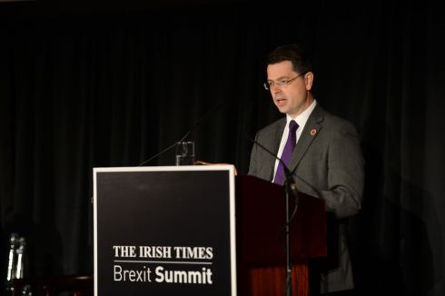 James Brokenshire, British secretary of state for Northern Ireland, speaks at 'The Irish Times' Brexit Summit. Photograph: Dara Mac Dónaill/The Irish Times