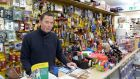 Stephen Costello of Costello's Hardware, Patrick Street,  Dún Laoghaire: A methadone clinic on the street is a turn-off for shoppers. Photograph: Eric Luke