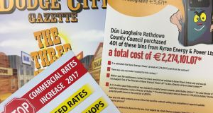 Leaflets published by the Dún Laoghaire-Rathdown Ratepayers' Association criticising council policies and measures.