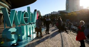 The front of the Web Summit venue in Lisbon. So far it's hard to find anything to criticise about the running of this year's event. Photograph: Miguel A. Lopes/EPA