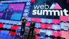 Web Summit co-founder Paddy Cosgrave  with Portugal's prime minister Antonio Costa at the event's start. Photograph: Rafael Marchante/Reuters