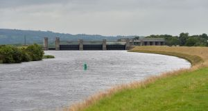 "Parteen Weir on Lough Derg. Oireachtas members will be invited to a presentation on the ""final preferred route"" from Parteen Basin through Tipperary and Offaly to Peamount in south Dublin. File photograph: Alan Betson"