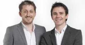 Datahug co-founders Connor Murphy and Ray Smith: their software helps  firms drive sales   by allowing  businesses to identify  previously unknown relationships