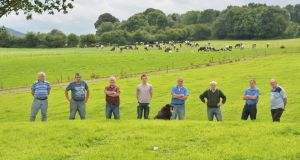 An Irish Water pipeline is to be laid underneath lands belonging to local dairy farmers. Photograph: Alan Betson