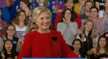 Clinton holds final campaign rally