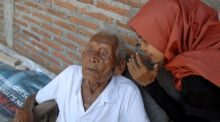 An Indonesian man, Mbah Gotho, aged 146, is the oldest human in world history. Photograph: Dasril Roszandi/NurPhoto via Getty Images