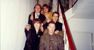 Jeff Buckley with Michael Murphy (back left) and friends. Photograph: Catherine McRae