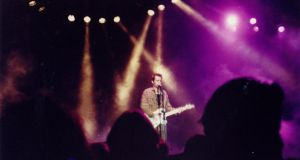 Jeff Buckley performing at the Trinity Ball in 1992. Photograph: Alison Rogers
